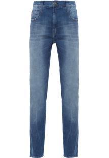 Calça Masculina Canvas Elastic Skinny - Azul