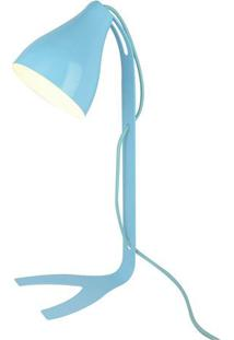 Abajur Moderno Lint- Azul Claro & Branco- 43X18Xø12Cpremier