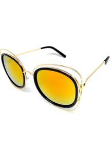 Óculos Solar Cayo Blanco Redondo Vermelho