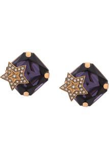 Dolce & Gabbana Par De Brincos Com Aplicação De Estrela - Dourado