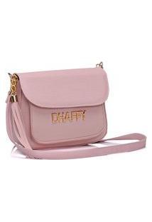 Bolsa Dhaffy Bolsas Com Bolso Na Frente Rosa