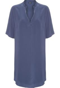 Vestido Silk Denim Washed - Azul