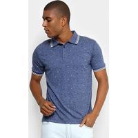 c798f538d9 Camisa Polo Broken Rules Mini Print Geométrico Masculina - Masculino-Azul