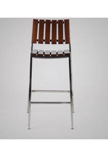 Banqueta Fillety Estrutura Em Aço Inox Design Exclusivo By Studio Artesian