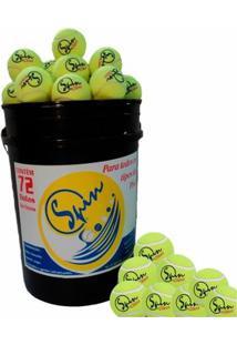 Balde Com 72 Bolas De Tennis Spin - Masculino