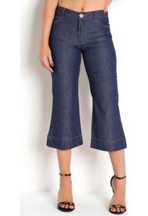Calça Pantacourt Jeans Sawary Com Bolso Traseiro