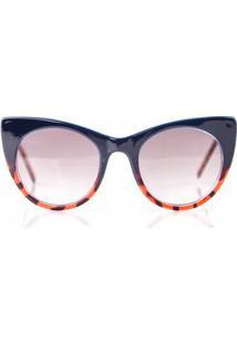 Oculos Gatinho Com Degrade Tartaruga Bordas Vermelho - Tu