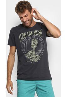 Camiseta Coca-Cola Microfone Masculina - Masculino