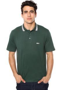 Camisa Polo Mr Kitsch Manga Curta Bauer Verde