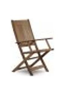 Cadeira Dobrável Com Braços Acqualung - Nogueira