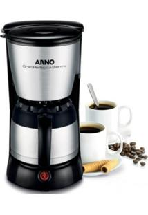 Cafeteira Elétrica Arno Gran Perfectta Thermo 220V Preta Inox Com Jarra Térmica Capacidade 24 Xícara
