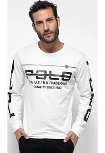 12d37acc63 ... Camiseta Polo Rg 518 Manga Longa Estampada Masculina - Masculino
