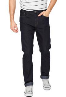 Calça Jeans Hering Slim Estonada Azul-Marinho