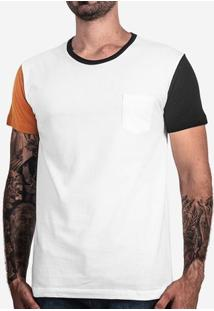 Camiseta Manga Mostarda E Preta 101694