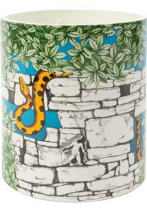 Fornasetti Vela Estampada - Il Serpente Del Giardino Segreto