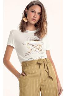 T-Shirt Mullet Em Malha De Viscose Com Estampa