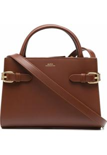 A.P.C. Mini Farrah Tote Bag - Marrom