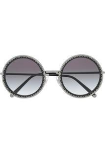 Dolce & Gabbana Eyewear Round Frame Sunglasses - Preto