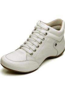 Bota Clube Do Sapato De Franca Top Confort 1 Lisa Feminina - Feminino-Branco