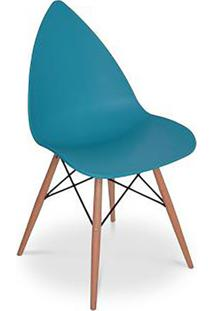 Cadeira Pingo- Azul & Marrom- 88,5X50X55Cm- Falkfalkk