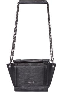 Bolsa Leather Textura - Preto
