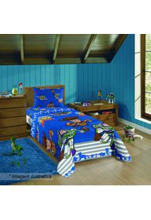 Jogo De Cama Toy Story® - Solteiro- Azul Vermelho-Lepper