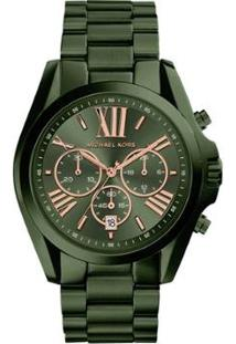 Relógio Michael Kors Feminino Bradshaw - Mk6528/4Vn Mk6528/4Vn - Feminino-Verde