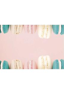 Tapete Macarons- Rosa Claro & Verde- 60X40Cm- Tatapetes Junior