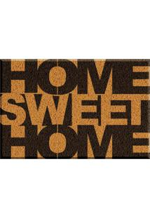 Capacho De Vinil Home Sweet Home Amarelo Único Love Decor