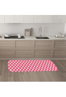 Tapete De Cozinha Mdecore Coração Rosa 40X120Cm