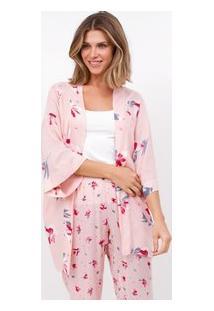 Robe Feminino Maquinetado Floral
