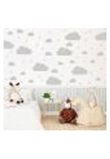 Adesivo Quarto Infantil Nuvens Cinza 64Un