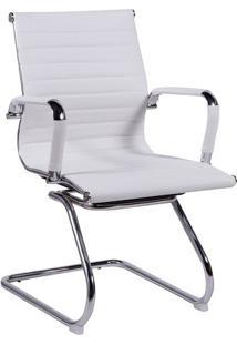 Cadeira Office Eames Esteirinha- Branca & Prateada- Or Design