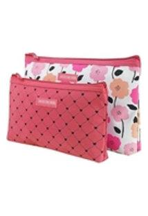 Kit Necessaire 2 Peças Pink Lover Salmão Jacki Design