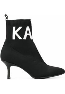 Karl Lagerfeld Bota Meia Com Logo - Preto