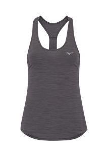 Camiseta Regata Mizuno Aspen - Feminina - Cinza Escuro