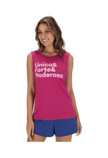 Camiseta Regata Oxer Única - Feminina - Vinho