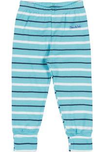 Calça Listrado - Masculino-Azul