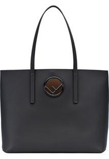 Fendi Bolsa Tote Logo Shopper - Preto