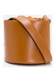 Bolsa Bucket Com Enforcador Napa | Satinato | Marrom | U