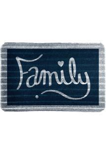 Capacho Carpet Family Azul Único Love Decor