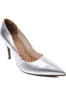 Scarpin Bebece Metalizado - Feminino-Prata