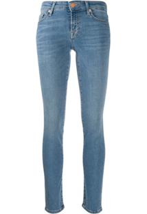 7 For All Mankind Calça Jeans Skinny Cintura Alta - Azul