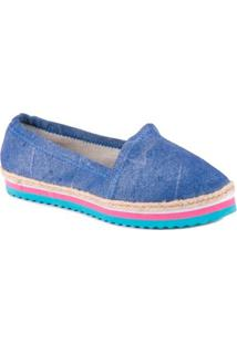 Sapatilha Petite Jolie Alpargata Espadrille Flatform Azul - Feminino-Azul