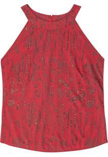 Blusa Decote Halter Neck Vermelho