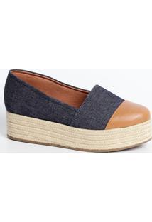 Sapatilha Feminina Jeans Flatform Bebecê 4115101