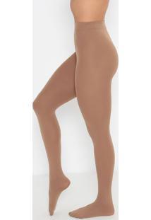 Meia Calça Opaca Plus Size- Marrom Claro- Fio 80Trifil