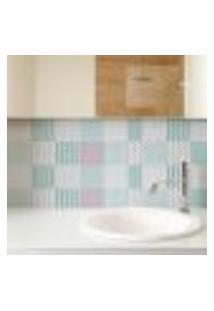Papel De Parede Autocolante Rolo 0,58 X 5M - Azulejo Geometrico 28496517