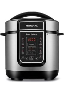 Panela De Pressão Elétrica Mondial Digital Master Cooker Pe-40 Panela Elétrica Press O-127V-Preto/Inox