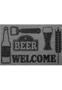 Capacho Kapazi Beer Print Vinil 60X40Cm - 29791